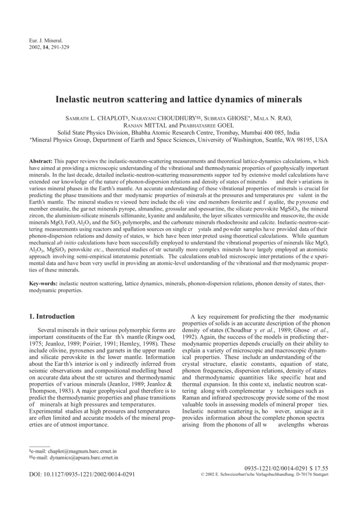 Inelastic neutron scattering and lattice dynamics of
