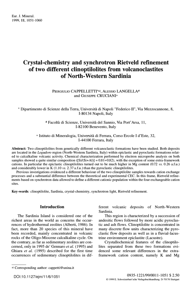 Crystal-chemistry and synchrotron Rietveld refinement of two