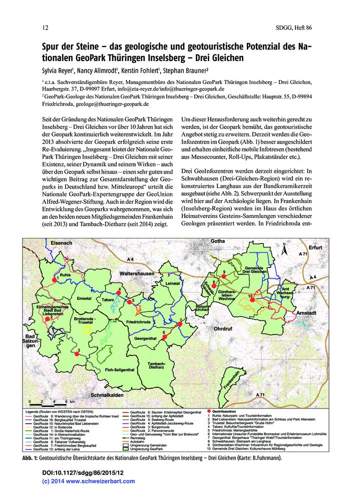 Geologische Karte Thüringen.Spur Der Steine Das Geologische Und Geotouristische Potenzial Des
